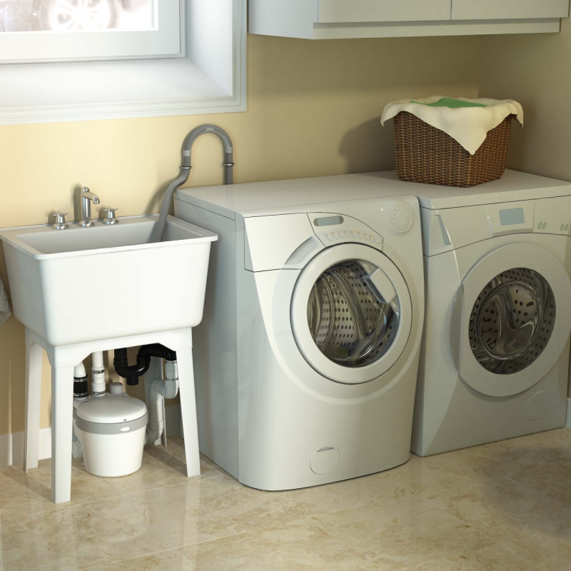 Saniswift Easy Solution For Remote Laundry Room Installation Saniflo