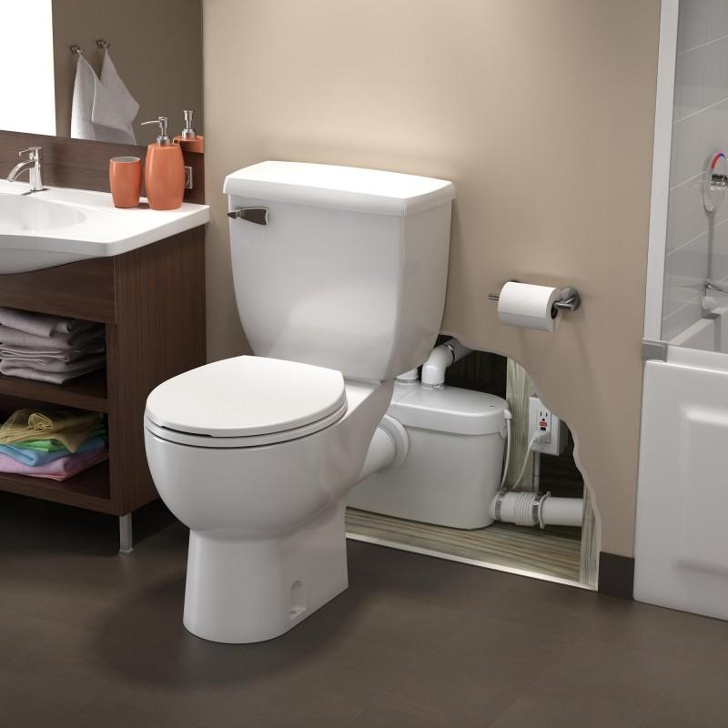 macerating toilet system