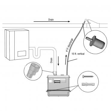 Sanicondens Best – condensate pump with buil-in neutralizer – SANIFLOSaniflo