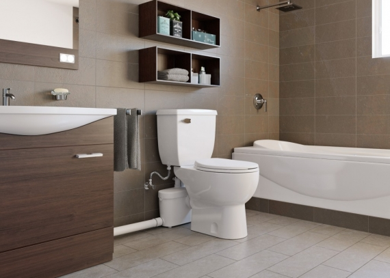 Saniflo above-floor macerating are ideal for locating a bathroom anywhere!