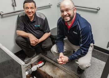 "Ferguson Avoids Costly Plumbing ""Gut"" with Grinder Pump"